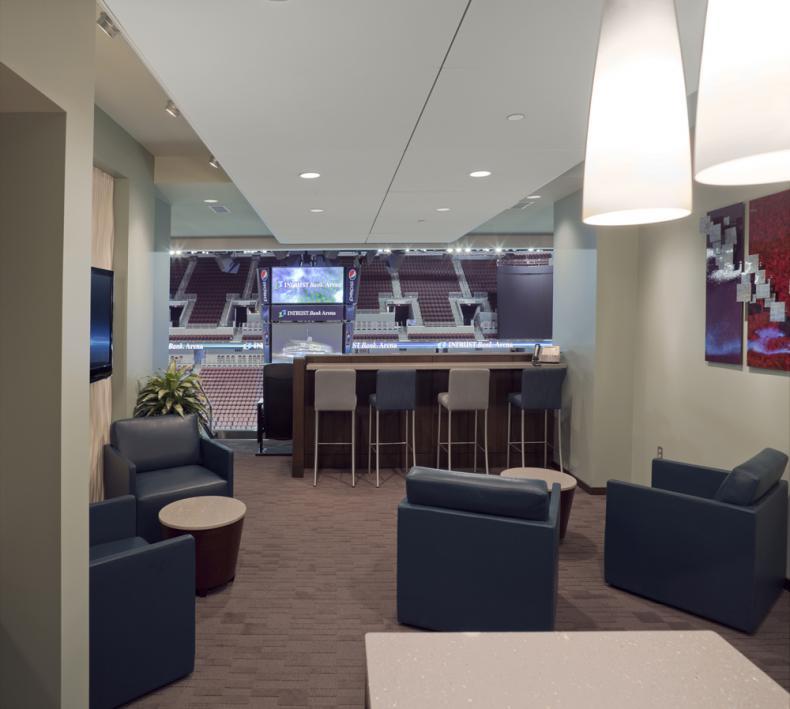Suites Premium Seating INTRUST Bank Arena - Intrust arena seating