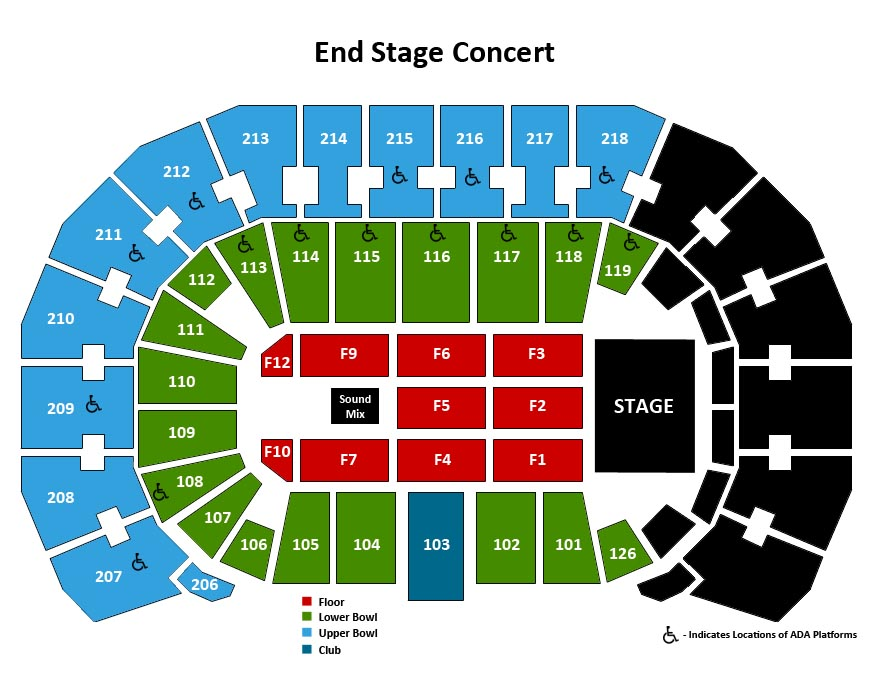 Seating Charts | Events & Tickets | INTRUST Bank Arena