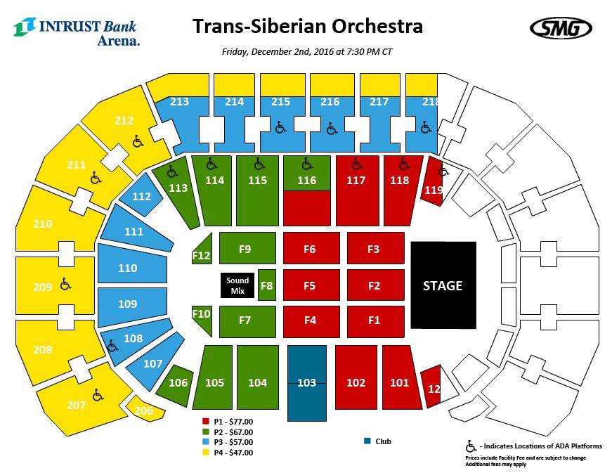 seating charts events tickets intrust bank arena. Black Bedroom Furniture Sets. Home Design Ideas